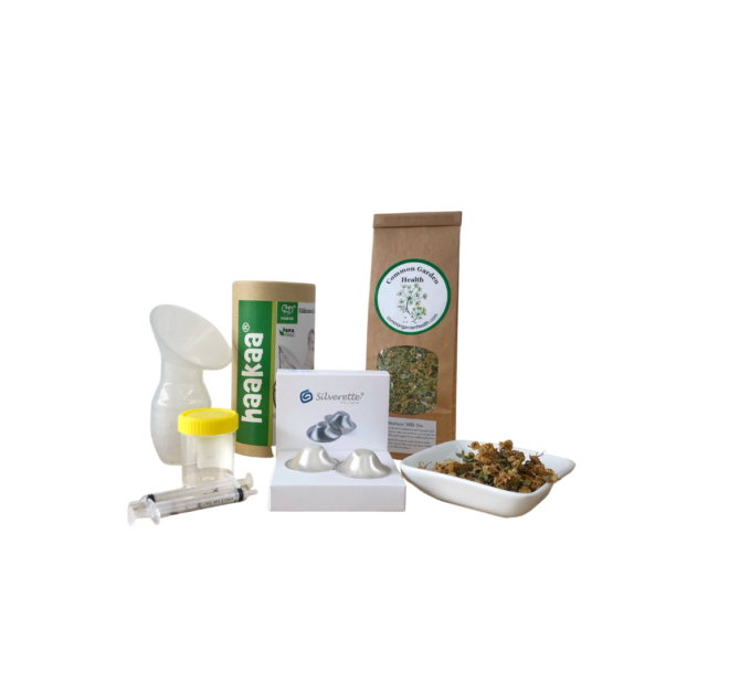 Lactation Consultant complete package, haakaa, colostrum collection kit, mothers milk tea silverette nipple shields